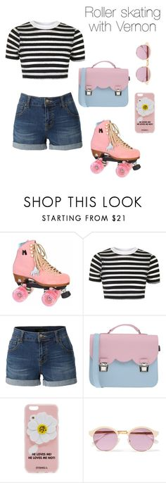 """Roller skating with Vernon"" by stelliger ❤ liked on Polyvore featuring Moxi, Topshop, LE3NO, La Cartella, Iphoria and Sheriff&Cherry"