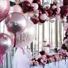 still one of my faves, with so many more impressive set ups yet to come. Stay tuned 📸 photography by Jax Moussa - Decoration For Home Balloon Garland, Balloon Decorations, Baby Shower Decorations, Tulle Balloons, Balloon Ideas, 60th Birthday Party, Birthday Party Decorations, Wedding Decorations, Christening Balloons