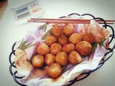 pumpkin sticky rice doughnuts with pumpkin cinamon sugar - ♥