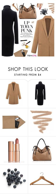 """Young and free ~ Newchic 8"" by hevsyblue2 ❤ liked on Polyvore featuring STOW, Charlotte Tilbury, Maryam Keyhani, PERIGOT, camel and camelcoat"