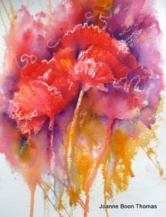 Poppies. Brusho. Joanne Boon Thomas Image 1 | Art Tutor