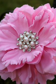 It's vintage pink!!! Bebe:!!! Broaches come in handy..they are making a comeback.... flowers to bridal bouquets to Christmas trees to wreaths to frames to just a broach on a coat!!!