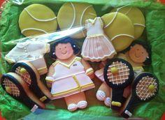 Galletas decoradas deportes, especial tenis