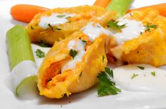 Buffalo Chicken Stuffed Shells recipe serves as a mouthwatering appetizer or entrée. These are perfect for game day or any special event.