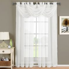 Abri Grommet Crushed Sheer Curtain Panel - Walmart.com