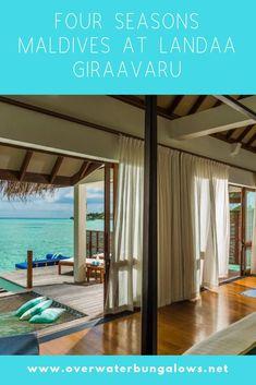 Maldives Water Villa, Overwater Bungalows, Resort Villa, Island Nations, Four Seasons, Resorts, Pergola, Outdoor Structures, Vacation