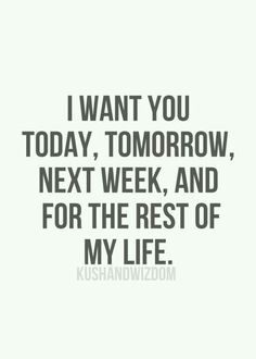 I want you forever and always #c
