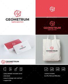 Geometrum Logo Template PSD, Vector EPS, AI Illustrator