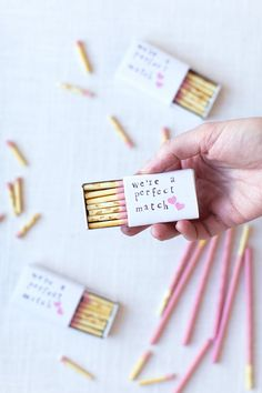 Pocky stick 'matches' for Valentines - so cute #valentines #diy #easy