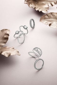 PANDORA's new sterling silver rings ooze timeless elegance and femininity.  #PANDORAring