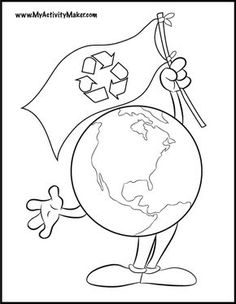 Coloring Pages: Holidays & Events Earth Day Coloring Pages, Coloring Pages For Kids, Kids Coloring, Stem Projects, Art Projects, Drawings With Meaning, Earth Day Drawing, Recycling Facts, Schools Around The World