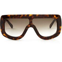 Céline Sunglasses Adele acetate sunglasses (£240) ❤ liked on Polyvore featuring accessories, eyewear, sunglasses, sports sunglasses, acetate sunglasses, sports eyewear, sport glasses and tortoise shell glasses