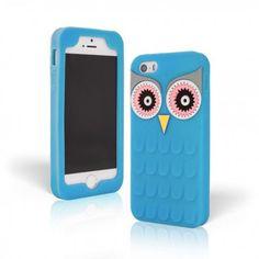 Carcasa Buho 3D en color Azul para tu nuevo Iphone 6 plus y 6S plus. Fabricada en silicona suave y flexible de alta calidad.
