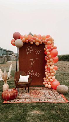 Bridal Shower Backdrop, Bridal Shower Signs, Bridal Shower Decorations, Bridal Showers, Bridal Shower Balloons, Bridal Shower Vintage, Boho Wedding Decorations, Fall Wedding, Our Wedding