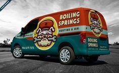 best truck wraps, award winning truck wraps, hvac truck wraps, heating and cooling truck wrap.