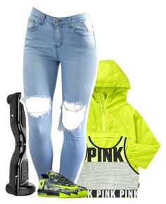 """"""".."""" by fashion123123 ❤ liked on Polyvore featuring Victoria's Secret and NIKE"""