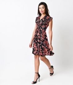 Feeling like a vintage vision, gals? A carefree retro inspired frock with an eye for Eastern detail from Unique Vintage,...Price - $78.00-0yHChFwd
