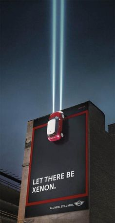 Mini Cooper.. great outdoor advertising! #advertising