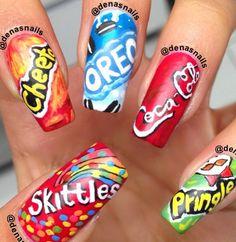 cute fun fake food nails!