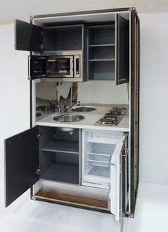 ✓ Innovative And Impressive Kitchen Design Models Of 107 Mini Kitchen, Micro Kitchen, Small Kitchenette, Kitchen Design, Tiny House Living, Tiny Kitchen Design, Small House Plans, Compact Kitchen, Kitchen Interior