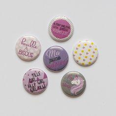 Badges petite puce graffiti girl