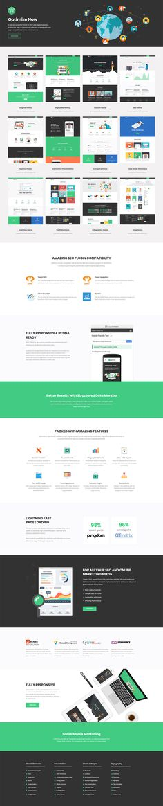 Optimize is a fast and powerful WordPress theme for SEO and digital marketing businesses.  #wordpress #theme #webdesign #design #seo #marketing #digitalmarketing #marketingagency #startup #hosting #socialmedia #interactive #analytics #infographic