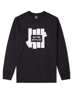Undefeated Anytime LS Tee - Black – West Brothers #undefeated #longsleeve #tee