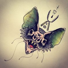 «Inspired by @xcjxtattooer #TATTOO #BAT #BATTATTOO #OLDSCHOOL #TRADITIONAL #OLDSCHOOLTATTOO #TRADITIONALTATTOO #WATERCOLOR #FRVRFRRS»