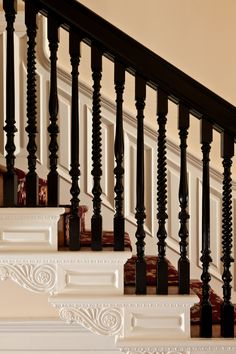 The Embassy Circle Guest House features many elements of the original 1902 home, including the beautiful banister with 3 unique repeating balustrades.