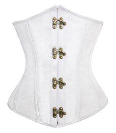 Fashion White Artificial Silk 24 Spiral Steel by MayaDesignFinland
