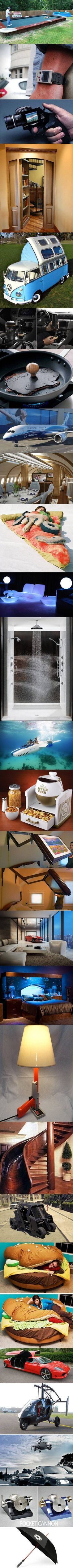 We've rounded up some more cool gadgets and products. Words cannot explain how much I want the plane and gun camcorder