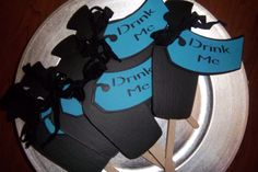 """Drink Me"" chalkboard signs for a candy bar or buffet table.  6 for $12.00."