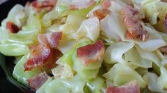 Ingredients     1 (12 ounce) package bacon   1/4 cup bacon drippings   1 small head cabbage, cored and finely chopped   ground black pepper to taste      Directions  Prep : 10 m - Cook : 15 m - Ready In :