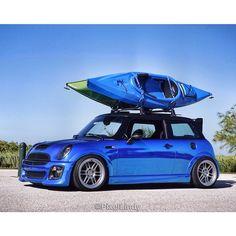 #SundayFunday ? #HumpDayFunday in my #MINI #SUV #kayaking #Kayak #stance #stancedmini #ministance #enkei #bluechrome @mini #minilife #minifamily #minilove #letsmotor #euro #eurospotter #eurotuner #wrappedworld #wrapchannel #carporn #british #florida #beautiful #sky