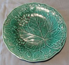 Bohemian/czech Able Czechoslovakia Green Glass Fruit Bowl And Dishes Crazy Price