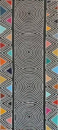 Janyinki Jukurrpa (Janyinki Dreaming) by Ben Jangala Gallagher Aboriginal Dot Painting, Aboriginal Artists, Aboriginal Patterns, Indigenous Australian Art, Indigenous Art, Cultural Patterns, Aboriginal Culture, Art Premier, Arte Popular