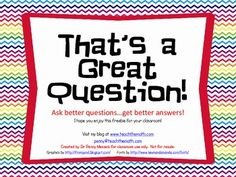 Ask better questions...get better answers!  This free Question Ring can prompt you to ask more powerful questions in your classroom.