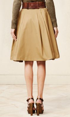 I like the silhouette of this skirt, and khaki is a classic.  Pleated Michaela Skirt - Collection Apparel Maxi Skirts - RalphLauren.com
