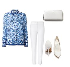 """Untitled #5"" by luckalucia on Polyvore featuring Dolce&Gabbana, ESCADA, Shoe Republic LA and Kate Spade"