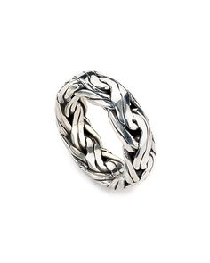 Samuel B. Imperial Silver Chain Ring hand braided ...all hand made
