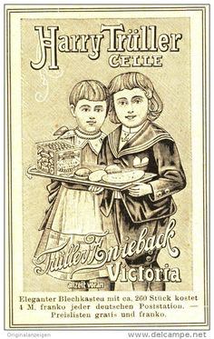 Original-Werbung/ Anzeige 1905 : TÜLLER ZWIEBACK VICTORIA / HARRY TÜLLER CELLE ca. 55 x 80 mm