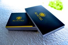 Here are some silk laminated business cards with gold foil stamping.