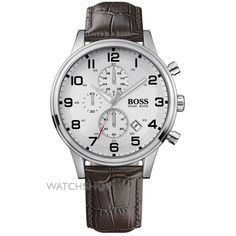 Mens Hugo Boss Aeroliner Chronograph Watch 1512447