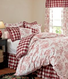 Red Toile And Red Gingham   Love For A Country Cottage