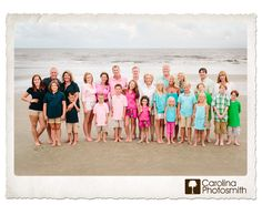 Picture Clothes by Color Series-Multi What to Wear in Family Pictures by COLOR-Multi Color!What to Wear in Family Pictures by COLOR-Multi Color! Extended Family Photos, Family Beach Pictures, Beach Photos, Family Pics, Big Family, Large Family Pictures What To Wear, Family Posing, Family Portraits, Beach Photography