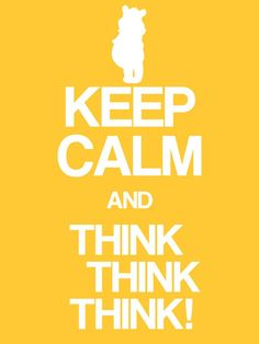"""Keep Calm & Think, Think, Think! - Pooh - Project Life Disney Filler Card - Scrapbooking. ~~~~~~~~~ Size: 3x4"""" @ 300 dpi. This card is **Personal use only - NOT for sale/resale** Logos/clipart belong to Disney. Font is Coolvetica http://www.dafont.com/coolvetica.font ***"""
