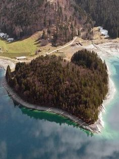 Hearts in Nature: Heart-shaped island in Walchensee, Germany