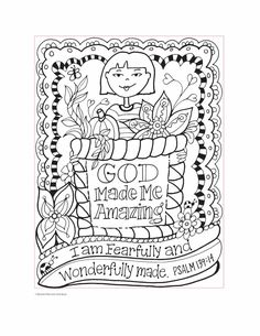 Youre Gods Girl Coloring Book Wynter Pitts Julia Ryan 9780736969635