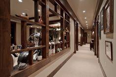 Basement Display Shelve/Hallway - traditional - basement - other metro - Aneka Interiors Inc.