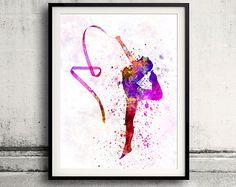 Rhythmic Gymnastics 03 SKU 0652 by Paulrommer on Etsy